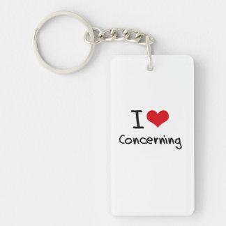 I love Concerning Double-Sided Rectangular Acrylic Key Ring
