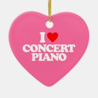 I LOVE CONCERT PIANO CERAMIC HEART DECORATION
