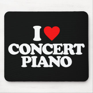 I LOVE CONCERT PIANO MOUSE PAD