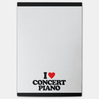 I LOVE CONCERT PIANO POST-IT® NOTES