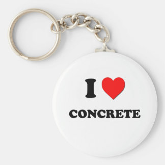 I love Concrete Key Ring