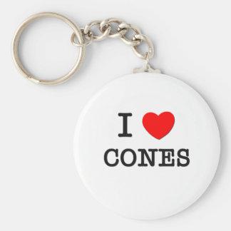 I Love Cones Keychain