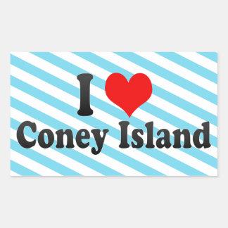 I Love Coney Island United States Sticker