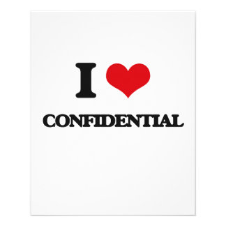 I love Confidential Full Color Flyer