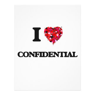 I love Confidential 21.5 Cm X 28 Cm Flyer