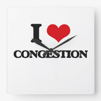 I love Congestion Wall Clocks