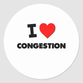 I love Congestion Classic Round Sticker