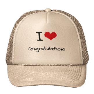 I love Congratulations Trucker Hats