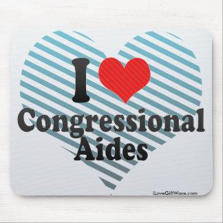 I Love Congressional Aides Mousepad