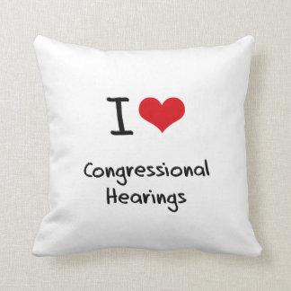 I love Congressional Hearings Throw Pillows