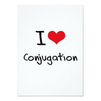 I love Conjugation 13 Cm X 18 Cm Invitation Card