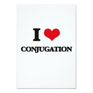 "I love Conjugation 3.5"" X 5"" Invitation Card"