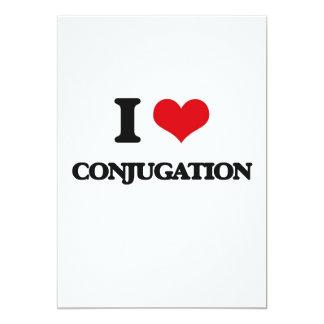 "I love Conjugation 5"" X 7"" Invitation Card"