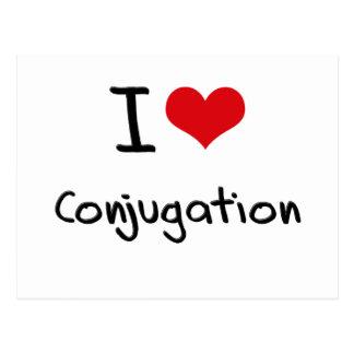 I love Conjugation Postcards