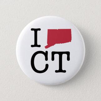 I Love Connecticut 6 Cm Round Badge