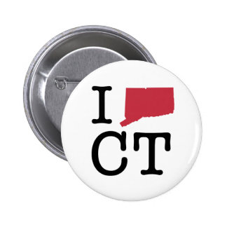 I Love Connecticut 6 Cm Round Badge