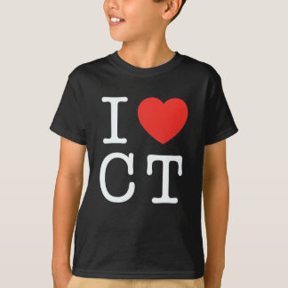 I LOVE Connecticut black T-Shirt