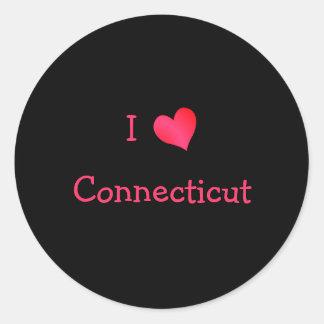 I Love Connecticut Classic Round Sticker