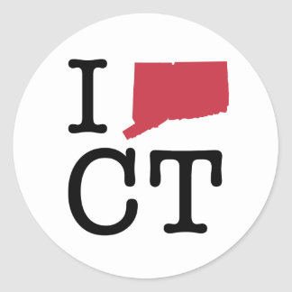 I Love Connecticut Classic Round Sticker