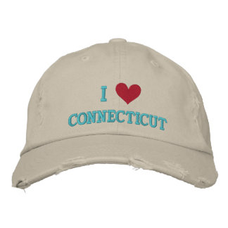 I LOVE CONNECTICUT EMBROIDERED HATS