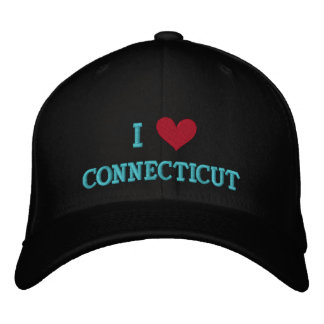 I LOVE CONNECTICUT EMBROIDERED HAT