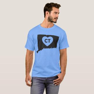 I Love Connecticut State Men's Basic Dark T-Shirt