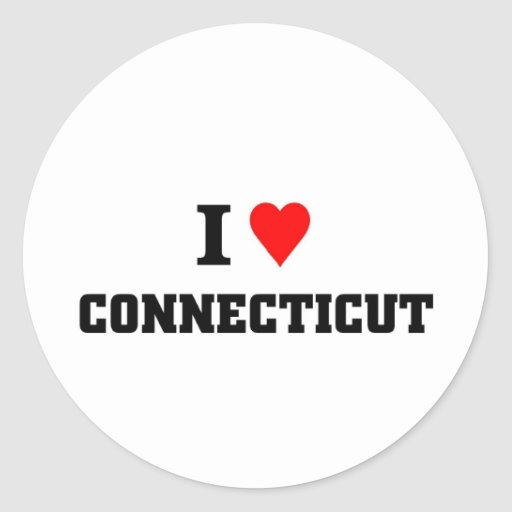 I love connecticut stickers