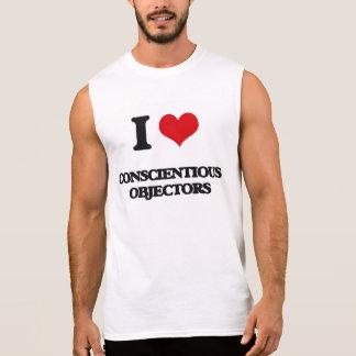 I love Conscientious Objectors Sleeveless Tees