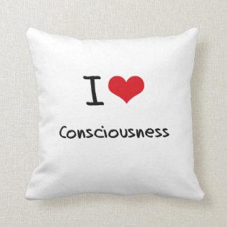I love Consciousness Throw Cushion