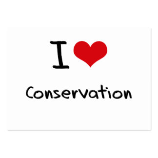 I love Conservation Business Card Templates