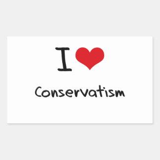 I love Conservatism Rectangular Stickers