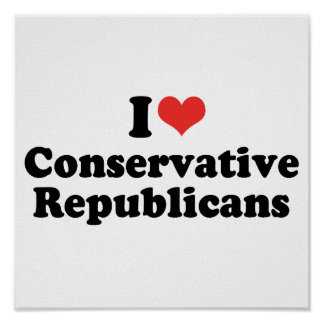I LOVE CONSERVATIVE REPUBLICANS - png Posters