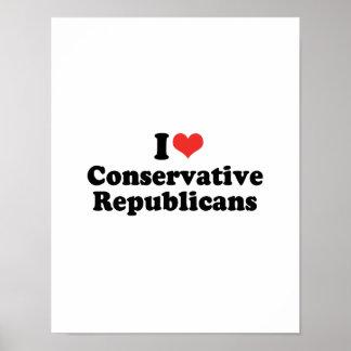 I LOVE CONSERVATIVE REPUBLICANS - .png Print