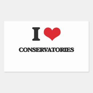 I love Conservatories Rectangular Stickers