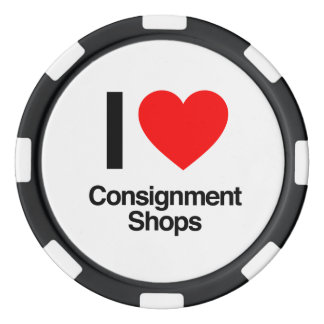 i love consignment shops poker chips set