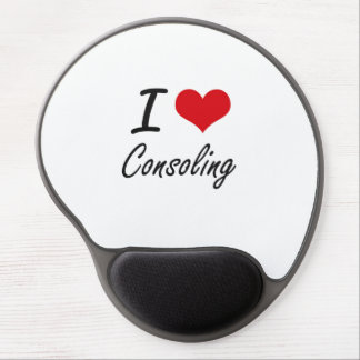 I love Consoling Artistic Design Gel Mouse Pad