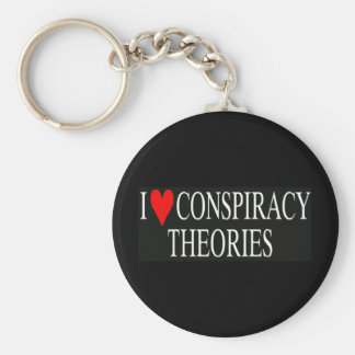 I Love Conspiracy Theories Basic Round Button Key Ring