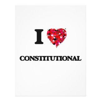 I love Constitutional 21.5 Cm X 28 Cm Flyer