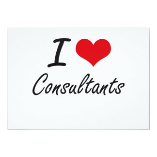 I love Consultants Artistic Design 13 Cm X 18 Cm Invitation Card