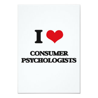 "I love Consumer Psychologists 3.5"" X 5"" Invitation Card"