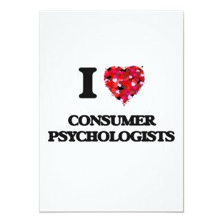 I love Consumer Psychologists 13 Cm X 18 Cm Invitation Card