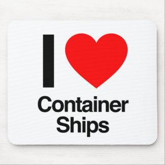 i love container ships mouse mat