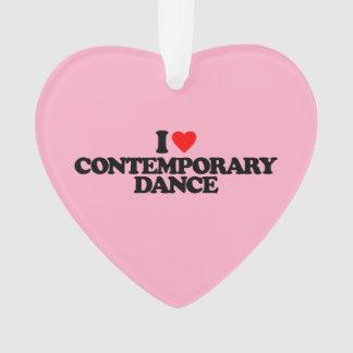 I LOVE CONTEMPORARY DANCE ORNAMENT