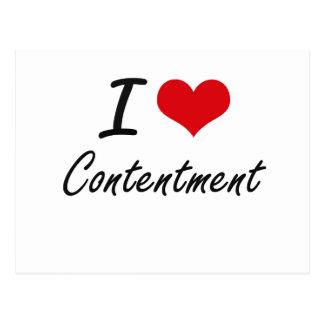 I love Contentment Artistic Design Postcard