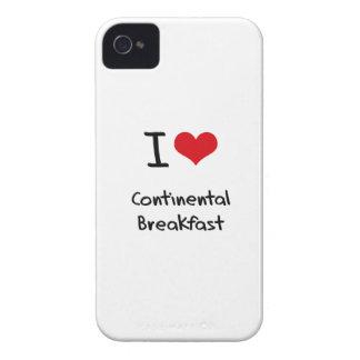 I love Continental Breakfast iPhone 4 Case-Mate Case