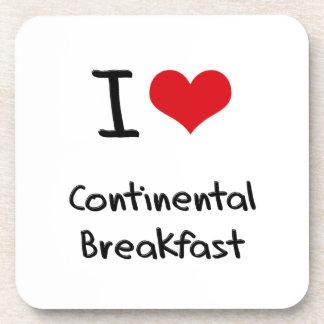 I love Continental Breakfast Drink Coasters