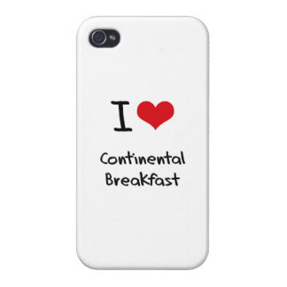 I love Continental Breakfast iPhone 4/4S Cover