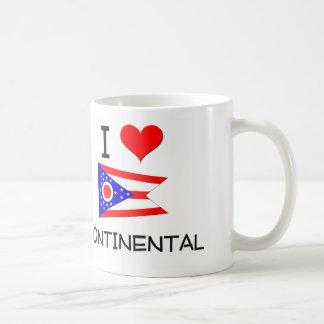 I Love Continental Ohio Basic White Mug