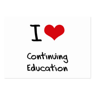 I love Continuing Education Large Business Cards (Pack Of 100)