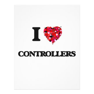 I love Controllers 21.5 Cm X 28 Cm Flyer